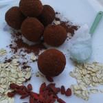 Goji bobice daju posebnu teksturu tartufima ako ih ne sameljete do kraja